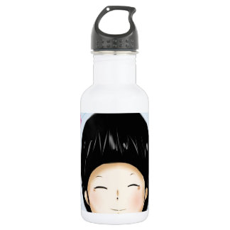 Boy with heart stainless steel water bottle