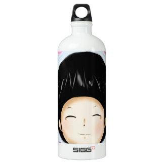 Boy with heart water bottle