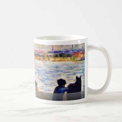 Boy With Horse By Seurat Georges Coffee Mugs