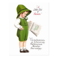 Boy with Map of Ireland Vintage St Patrick's Day Post Cards