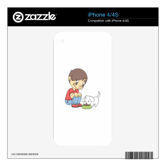 BOY WITH PUPPY DECALS FOR THE iPhone 4S