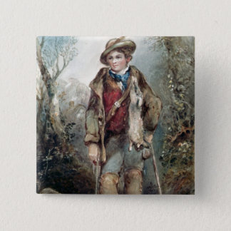 Boy with Rabbits Button