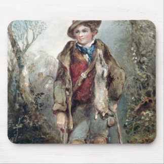 Boy with Rabbits Mouse Pad