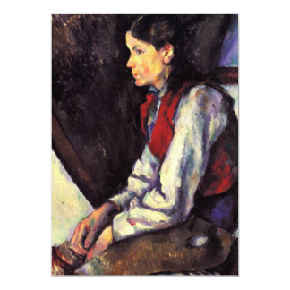 Boy With Red Vest Paul Cezanne painting art Card