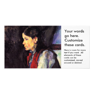 Boy With Red Vest Paul Cezanne painting art Photo Card