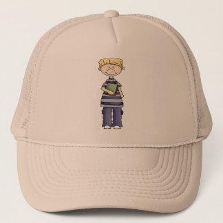 Boy With Schoolbooks Trucker Hat
