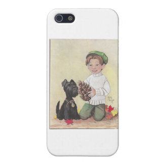 Boy with Scottie Case For iPhone SE/5/5s
