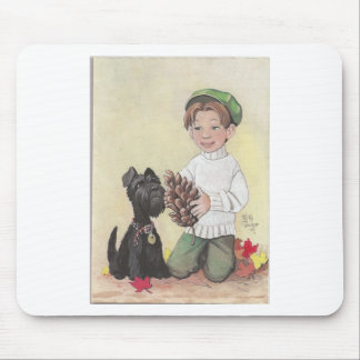 Boy with Scottie Mouse Pad