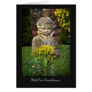 Boy with Spring Posy - With Our Condolences Greeting Card