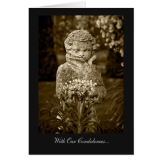 Boy with Spring Posy - With Our Condolences Card