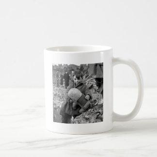 Boy with Stuffed Animal, 1945 Classic White Coffee Mug