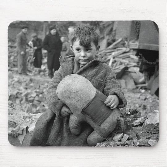 Boy with Stuffed Animal, 1945 Mouse Pad