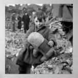 Boy with Stuffed Animal, 1945 Print