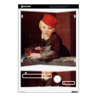 Boy with the cherries by Edouard Manet Xbox 360 S Console Skins