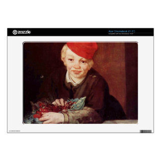 Boy with the cherries by Edouard Manet Skin For Acer Chromebook