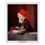 Boy With The Cherries By Manet Edouard Poster