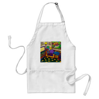 Boy with Toy Adult Apron