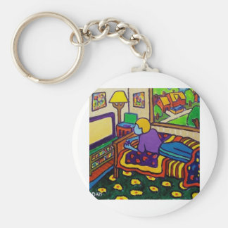 Boy with Toy Key Chains