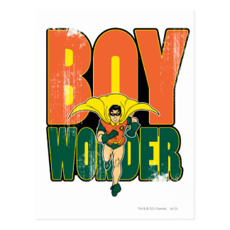 Boy Wonder Graphic Postcard
