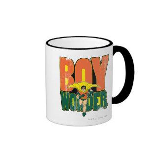 Boy Wonder Graphic Ringer Coffee Mug