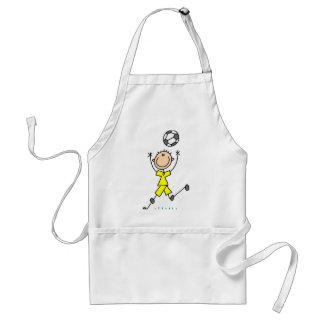 Boy Yellow Soccer Uniform Adult Apron