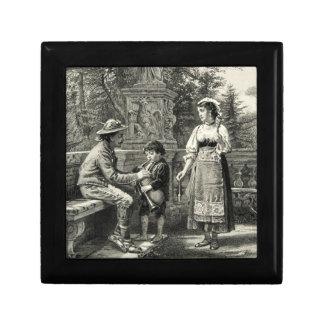 Boy Zampogna Father Mother Music Villa Borghese Trinket Box