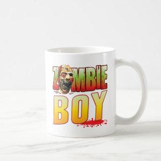Boy Zombie Head Classic White Coffee Mug
