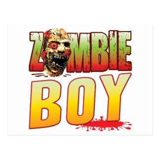 Boy Zombie Head Postcard
