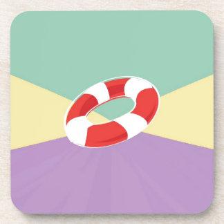 Boyas de la natación en tri fondo del color posavasos de bebida