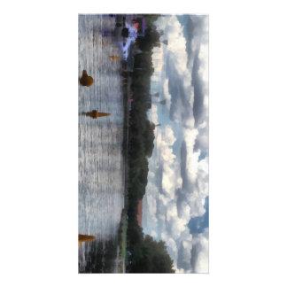 Boyas en el río tarjetas personales