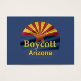 BOYCOTT Arizona Business Card