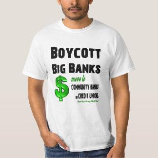 Boycott Big Banks, Bank Bailouts Shirt
