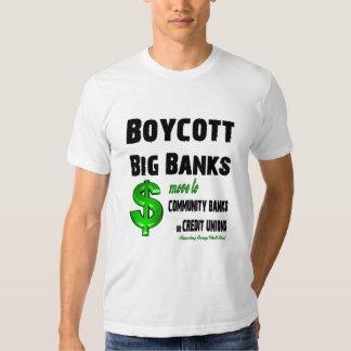 Boycott Big Banks, Bank Bailouts Tee Shirt