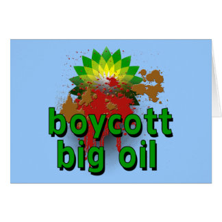 Boycott Big Oil to End Offshore Drilling Tshirts Card