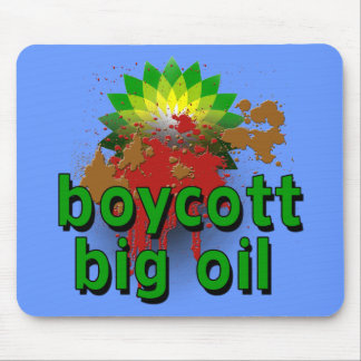 Boycott Big Oil to End Offshore Drilling Tshirts Mouse Pad