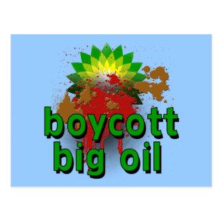 Boycott Big Oil to End Offshore Drilling Tshirts Postcard