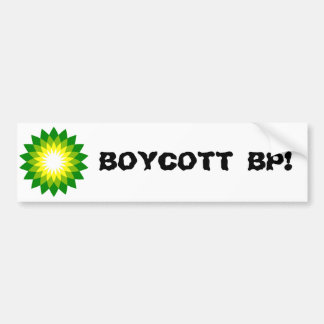 BOYCOTT BP! CAR BUMPER STICKER