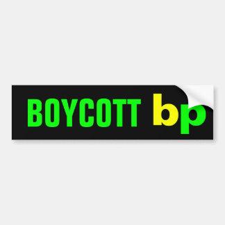 BOYCOTT bp Car Bumper Sticker
