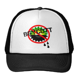 Boycott BP Gulf Oil Spill T-Shirts Trucker Hat