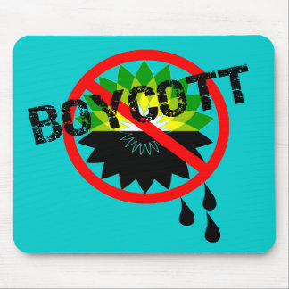 Boycott BP Gulf Oil Spill T-Shirts Mouse Pad