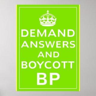 Boycott BP Posters