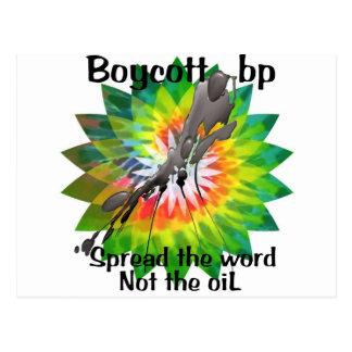 Boycott bp t shirt tie dye spread the word 2 postcard