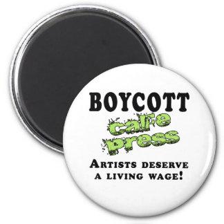 Boycott Cafepress 2 Inch Round Magnet