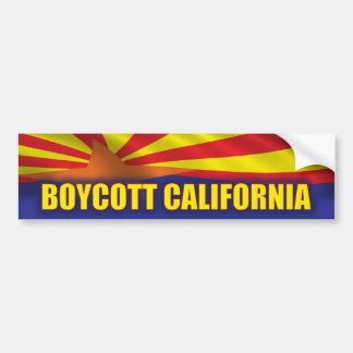 Boycott California - Support Arizona Bumper Sticker