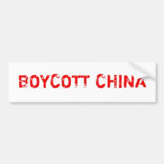 Boycott China Bumper Stickers