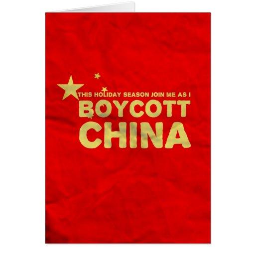 Boycott China...Buy American Lead Toys! Greeting Card