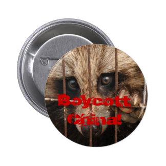 Boycott China! Pinback Button