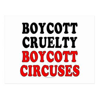 Boycott cruelty. Boycott circuses. Postcard