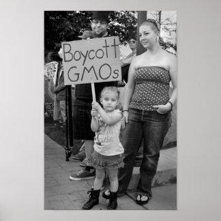 Boycott GMOs Poster