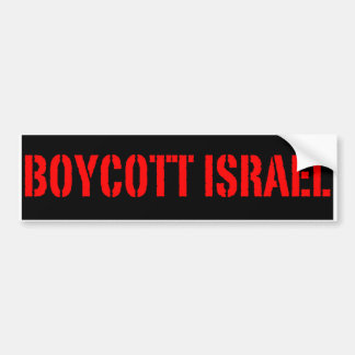 Boycott Israel - Bumper Sticker